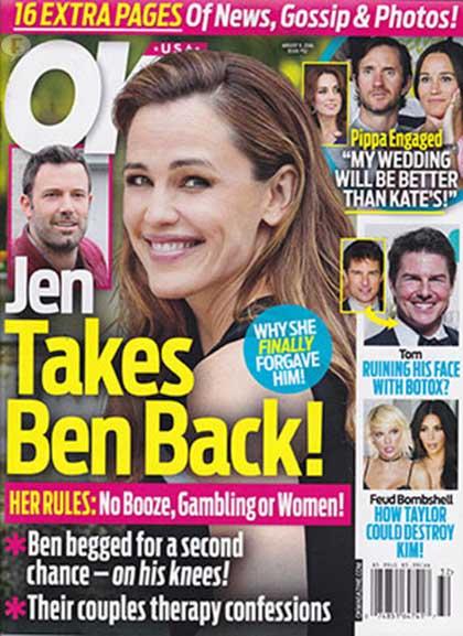Jennfer Garner regresa con Ben Affleck! [OK!]