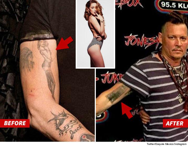 Johnny Depp cambió sus tatuajes de Amber Heard?