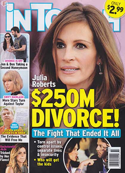 Julia Roberts divorcio de $250 millones! [InTouch]