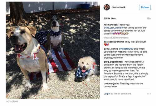 Kaley Cuoco enfureció a sus fans con foto del 4 de Julio