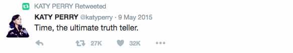Katy Perry responde a los tweets de Calvin Harris?