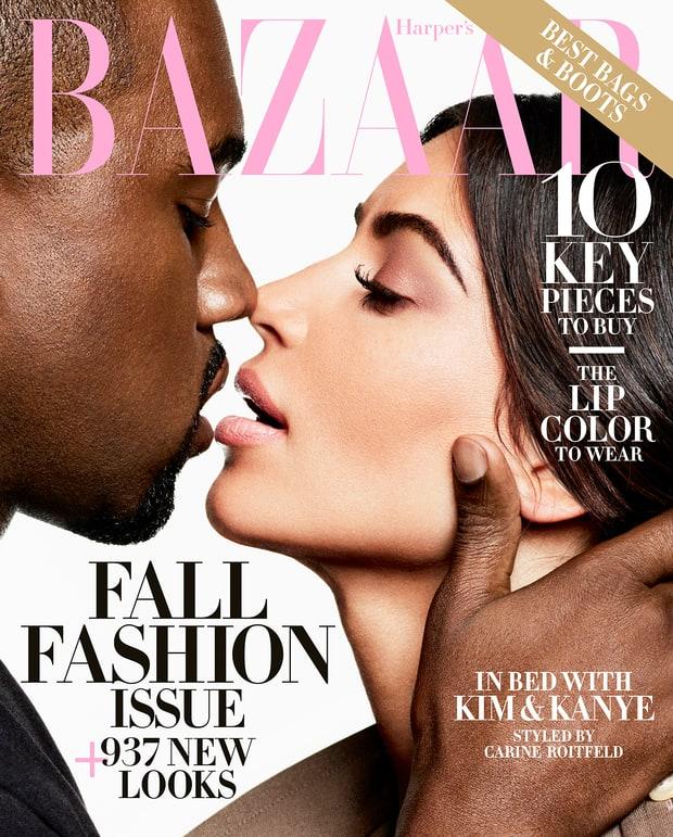 Kim Kardashian y Kanye West Harper's Bazaar