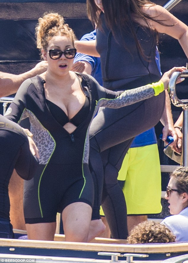 Mariah Carey al natural! en Capri