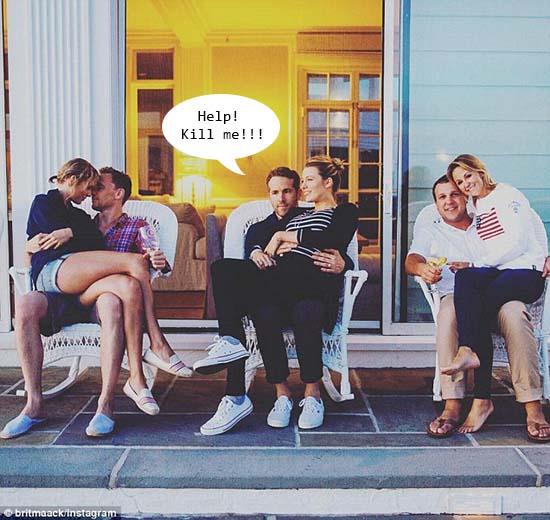 Ryan Reynolds: foto con Taylor Swift y Tom Hiddleston LOL!