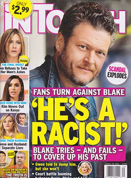 Blake Shelton es racista [InTouch]