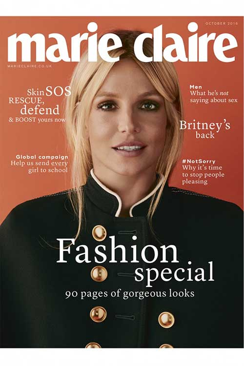 Britney Spears en Marie Claire