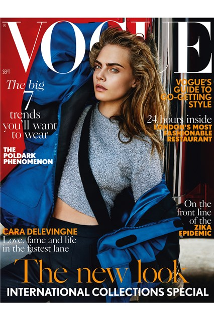 Cara Delevingne en Vogue UK