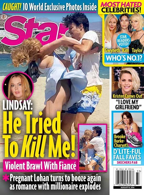 Lindsay Lohan atacada por su novio Egor [Star]