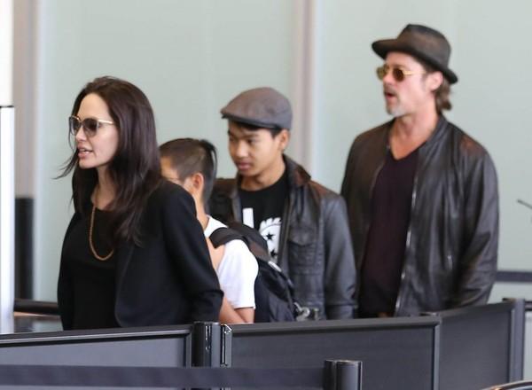 Brad Pitt le gritó a Maddox pero no lo golpeó