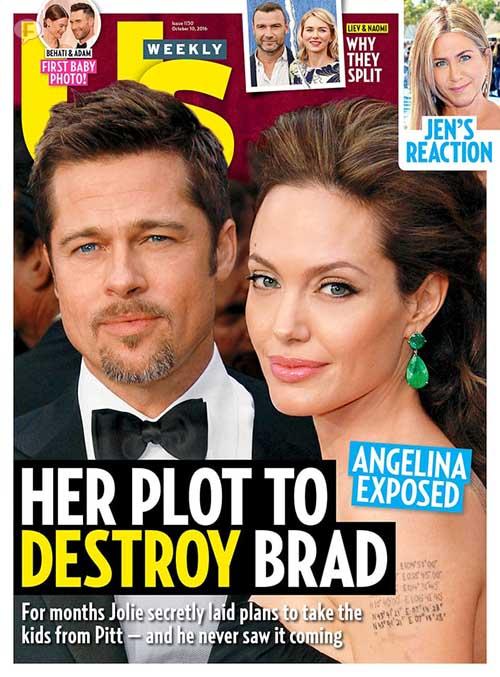 Angelina Jolie planea destruir a Brad Pitt [Us]