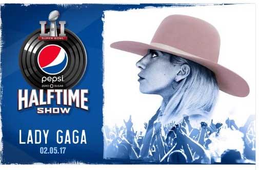Lady Gaga encabezará medio tiempo Super Bowl 2017
