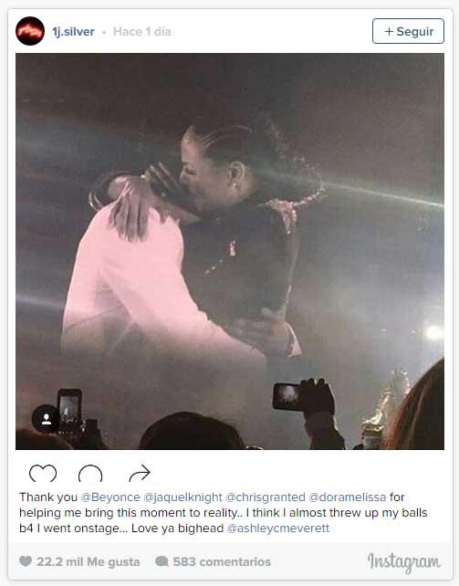 Beyonce interrumpió concierto, su bailarina se compromete!