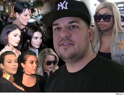 Rob Kardashian publica número de Kylie, pelea por baby shower