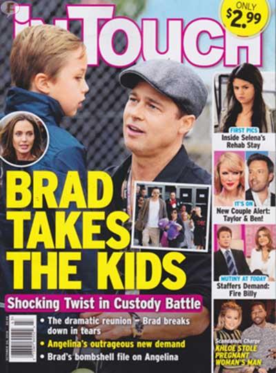 Brad Pitt se lleva a los niños [InTouch]