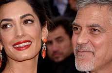 George Clooney y Amal celebraron 2do aniversario en casa