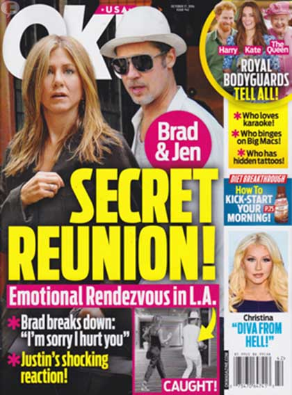 Brad Pitt y Jen Aniston: La reunión secreta! [OK!]