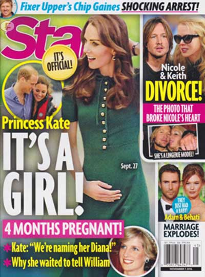 La Princesa Kate 4 meses de embarazo - Es niña! [Star]