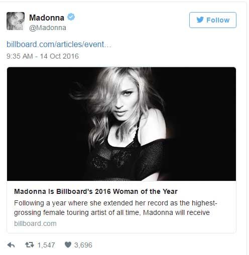 Madonna: Mujer Del Año Billboard 2016