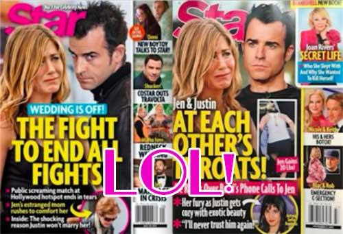 Jennifer Aniston y Justin Theroux en guerra? Nah! [Star]