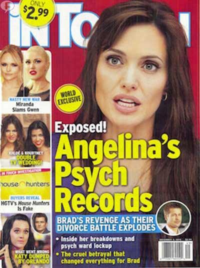 Los registros psiquiátricos de Angelina! [Intouch]