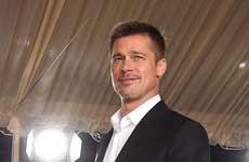 Brad Pitt en la premier de Allied