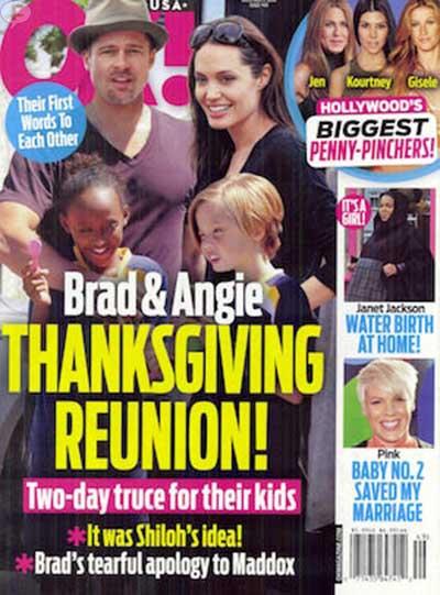 Brad y Angelina: reunión en Thanksgiving! [OK!]