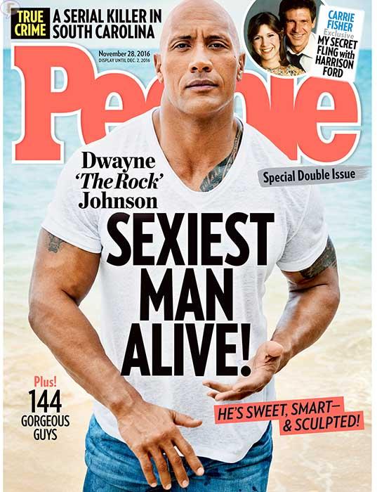 Dwayne La Roca Johnson hombre más sexy - People