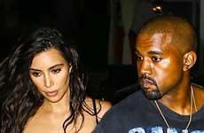 Kim Kardashian con Kanye en el hospital! Esposa devota!!