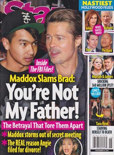 Maddox le dice a Brad: No eres mi padre! [Star]