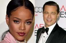 Rihanna pensando en Brad Pitt? OMG!!