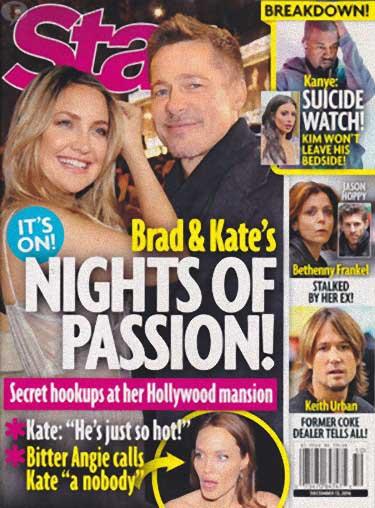 Brad Pitt y Kate Hudson: noches de pasión [Star]