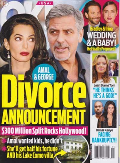Amal y George: Anuncio de Divorcio [OK!]