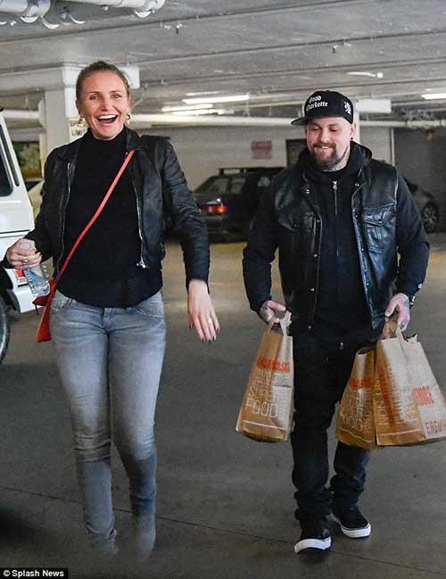 Cameron Diaz y Benji Madden de shopping