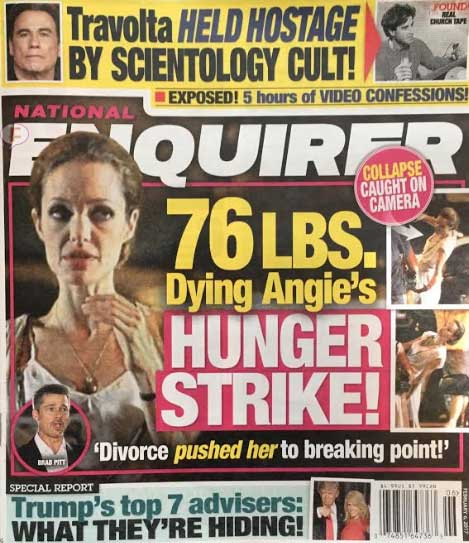 Angelina Jolie muriendo en Huelga de hambre! (Enquirer)