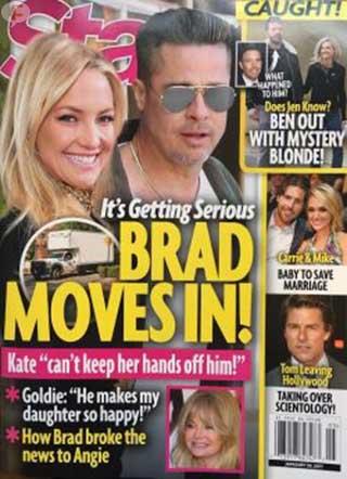 Brad Pitt se muda con Kate Hudson! LOL! [Star]