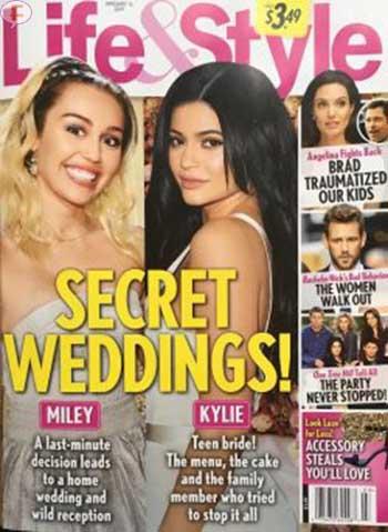 Bodas secretas de Miley y Kylie [Life&Style]