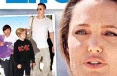 Angelina le da los niños a Brad [Life&Style]
