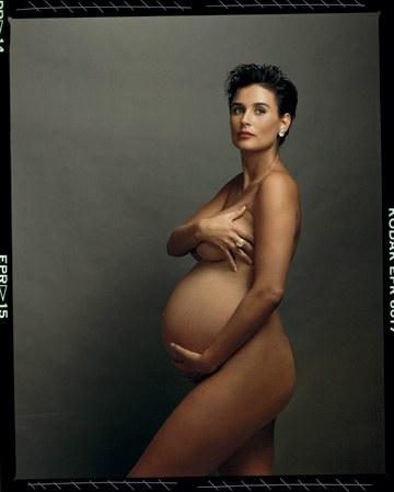 Natalie Portman posa embarazada a lo Demi Moore Vanity Fair