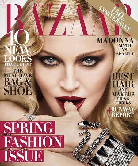 Madonna y la noche de las elecciones [Harper's Bazaar]