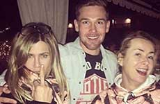 Jennifer Aniston y Justin Theroux en el cumple de Orlando Bloom