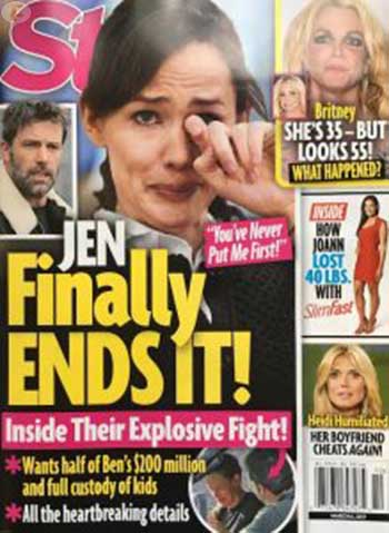 Jennifer Garner solicitó el divorcio? (Star)