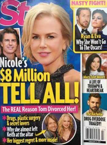 Nicole Kidman cuenta todo sobre Tom Cruise (Star)