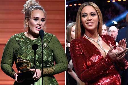 Adele triunfa en los Grammys 2017