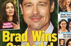 Brad Pitt gana la custodia (InTouch)