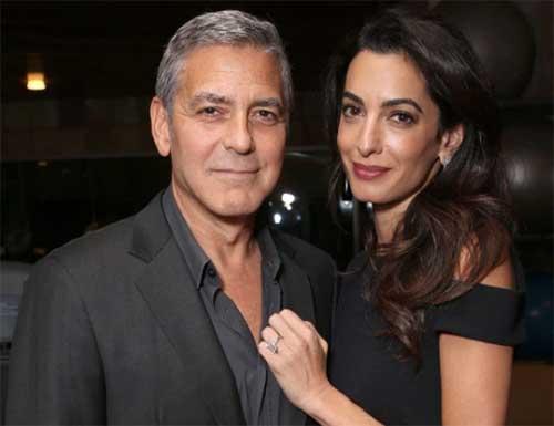 George y Amal Clooney esperando gemelos!!
