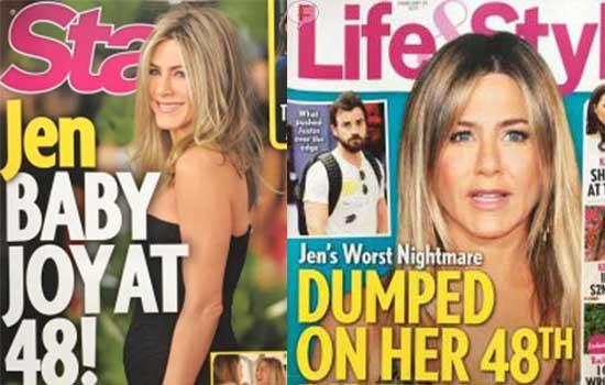 Jennifer Aniston embarazada abandonada a los 48!