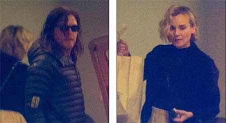Diane Kruger y Norman Reedus juntos en New York!
