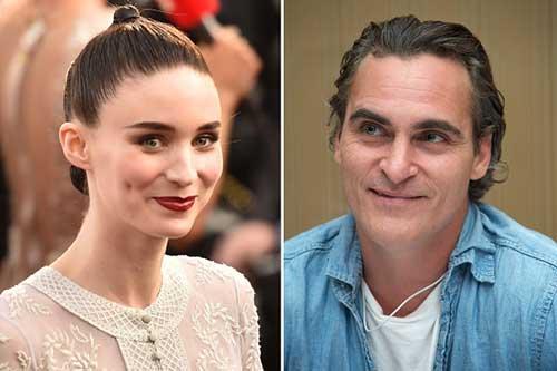 Rooney Mara y Joaquin Phoenix muy enamorados
