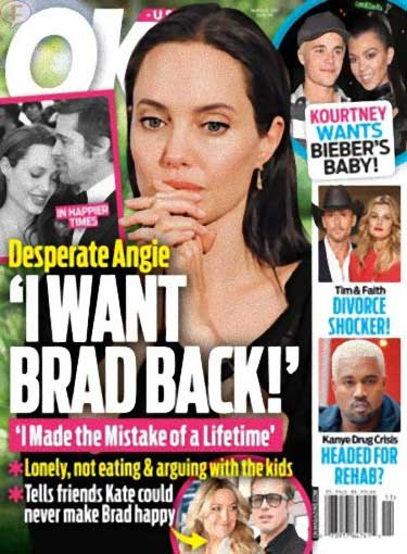 Angelina Jolie quiere a Brad de vuelta! (OK!)