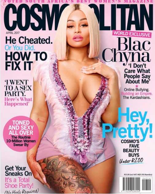 Blac Chyna habla de Rob Kardashian (Cosmopolitan)